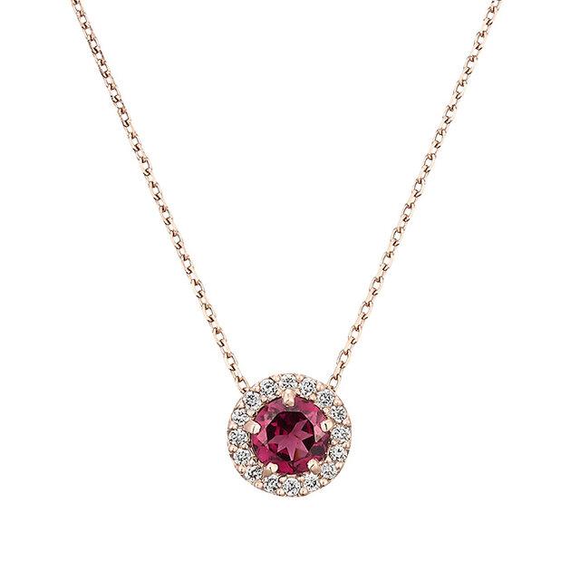 フェスタリアのガーネットとダイヤモンドのペンダント