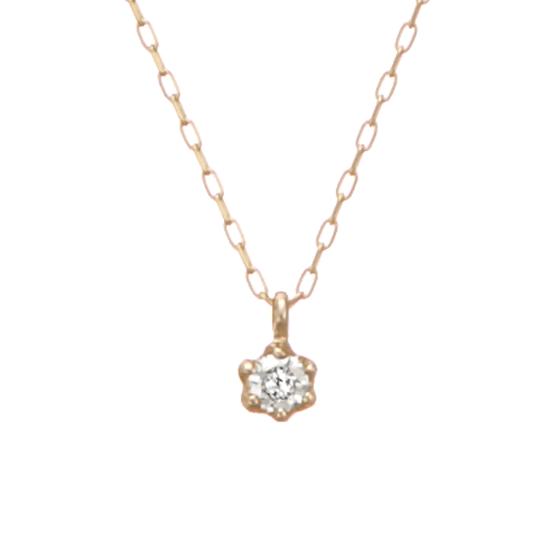 フェスタリアのK10ダイヤモンドチェーンネックレス