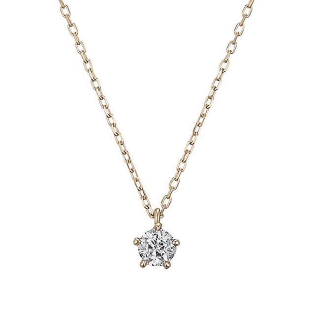 フェスタリアのピンクゴールドダイヤモンドネックレス