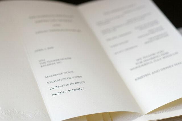 結婚式のプログラム