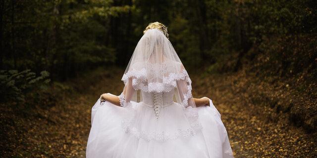 ミディアムベールの花嫁