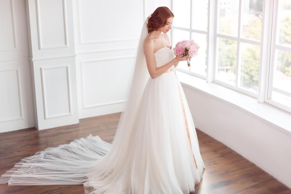 ロングベールの花嫁