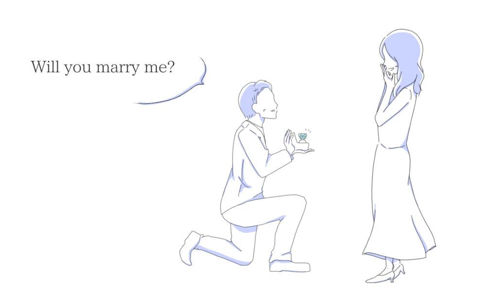プロポーズのシーン