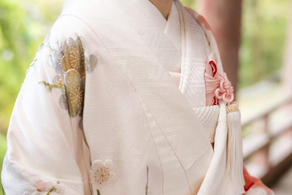 和装で式を挙げる花嫁