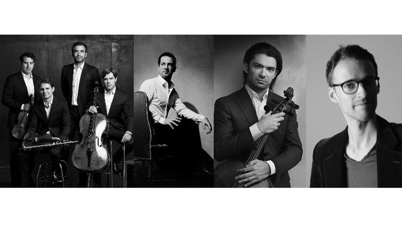 モディリアーニ弦楽四重奏団、ベルトラン・シャマユ、ゴーティエ・カピュソン、ヤン・ドゥボストのシューベルト