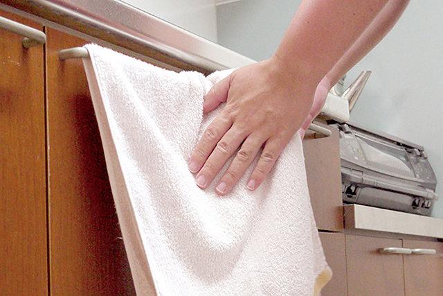 台所の手拭きタオルは菌がいっぱい