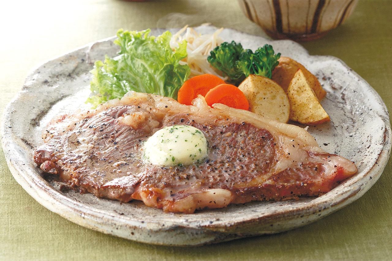パセリバター添え、ごちそうステーキ