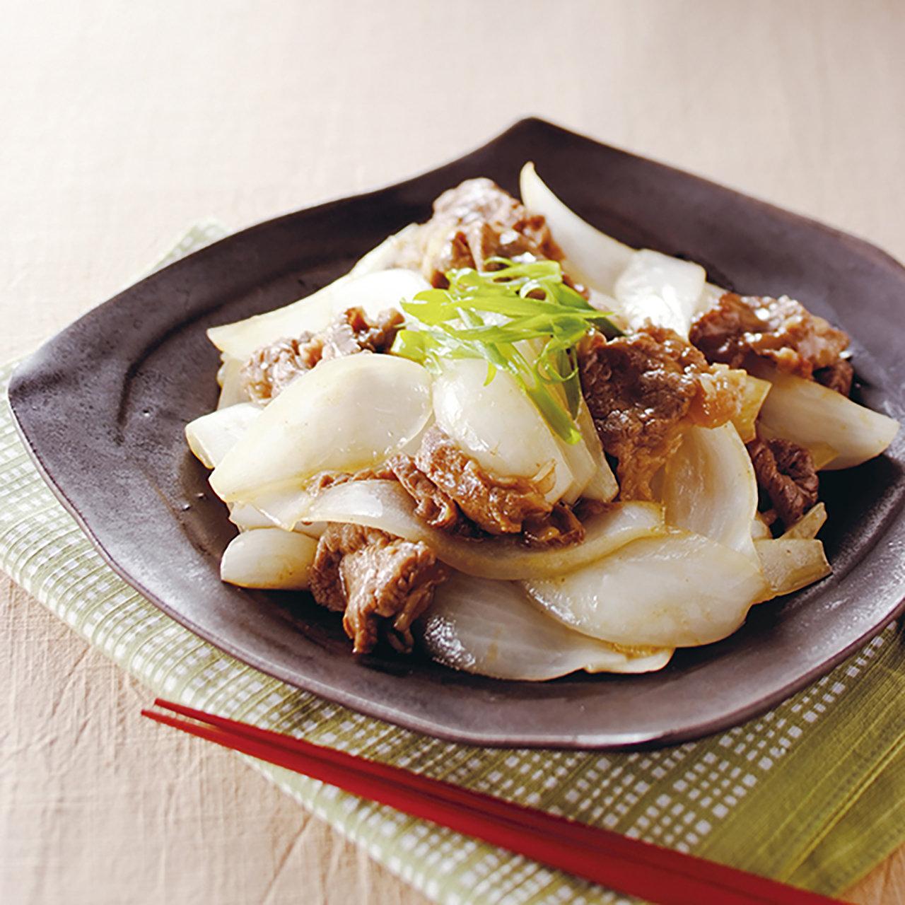 新たまねぎと牛肉の中華炒め