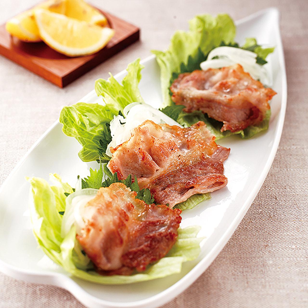 豚バラ肉の新たまねぎ塩ダレ