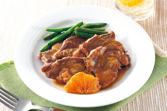 豚スペアリブのオレンジブランデー煮
