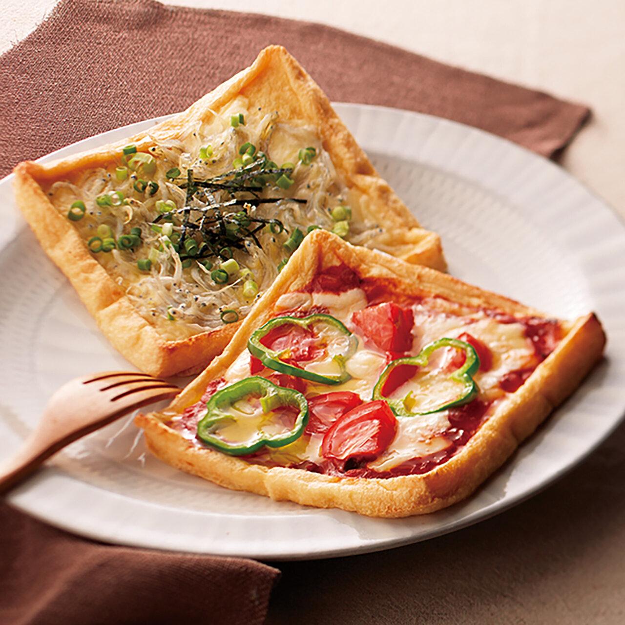 うす揚げピザ