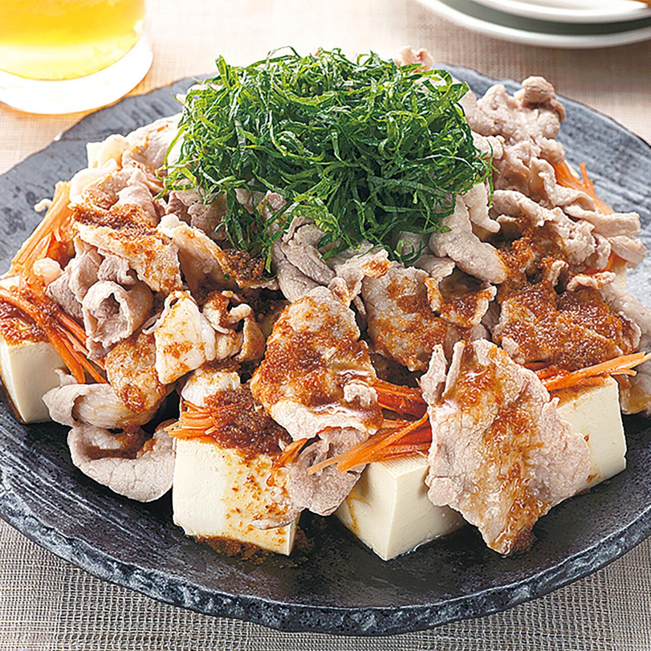 豚肉と豆腐のおかずサラダ
