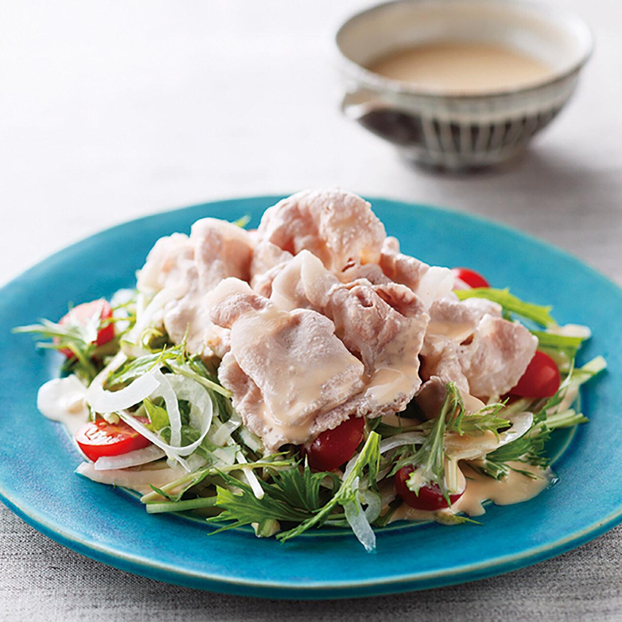 豚しゃぶの辛子マヨサラダ