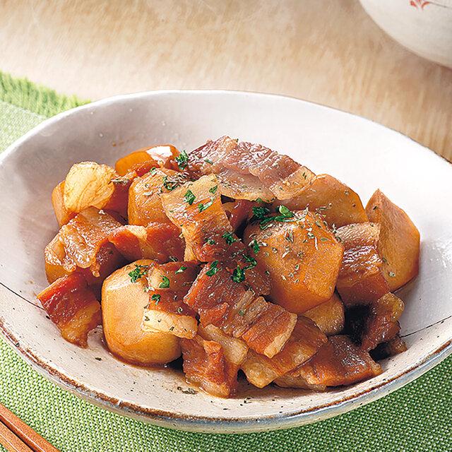 里芋とベーコンの甘辛煮