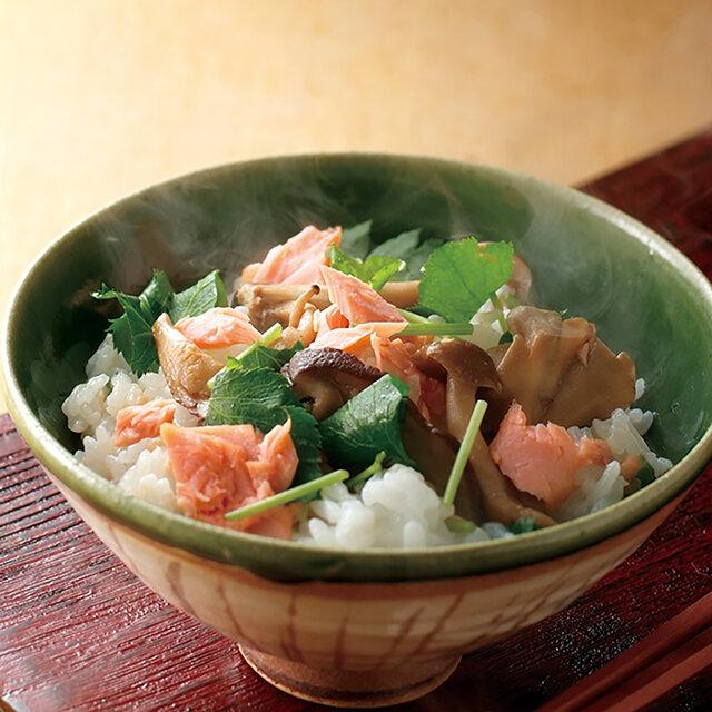 鮭ときのこの混ぜご飯