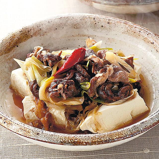 牛肉と豆腐の旨み蒸し