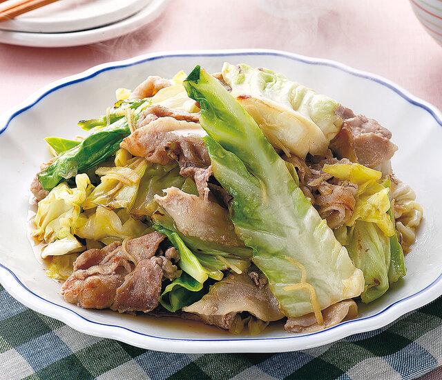 春キャベツと豚肉の柔らか蒸し煮