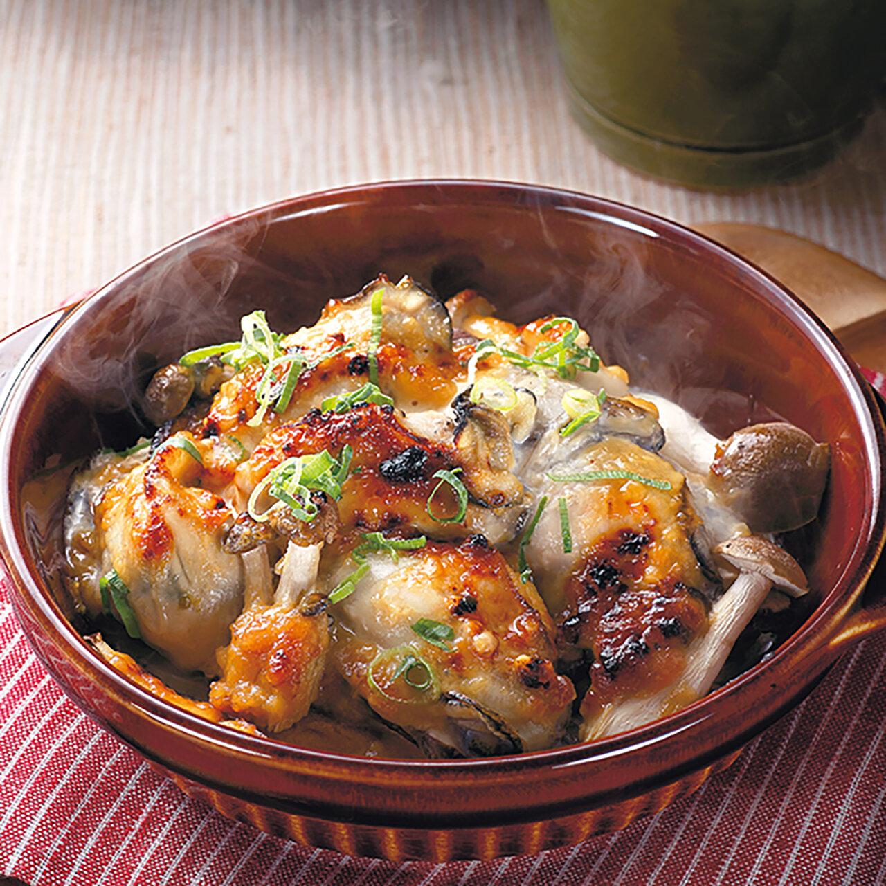 牡蠣のマヨ味噌焼き