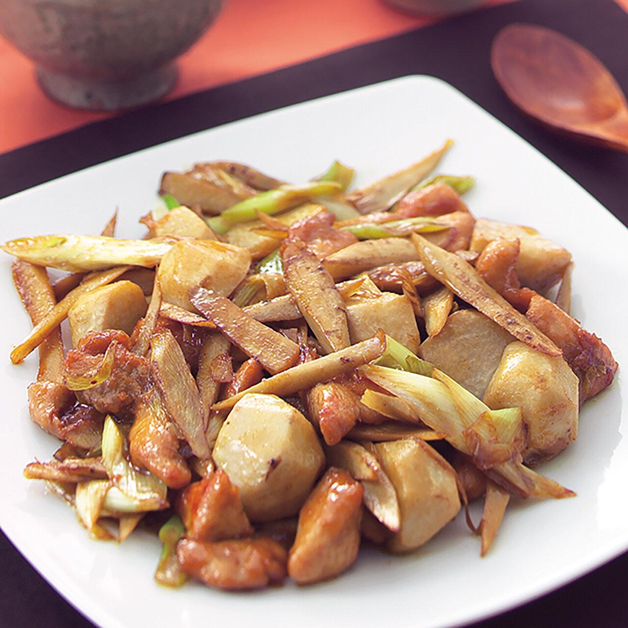 里芋とごぼうの中華炒め