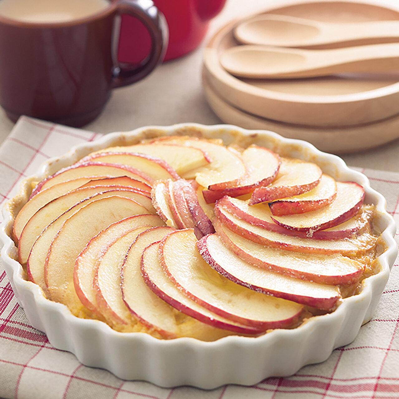 りんごのカスタードグラタン