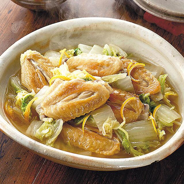 白菜と手羽中の和風煮