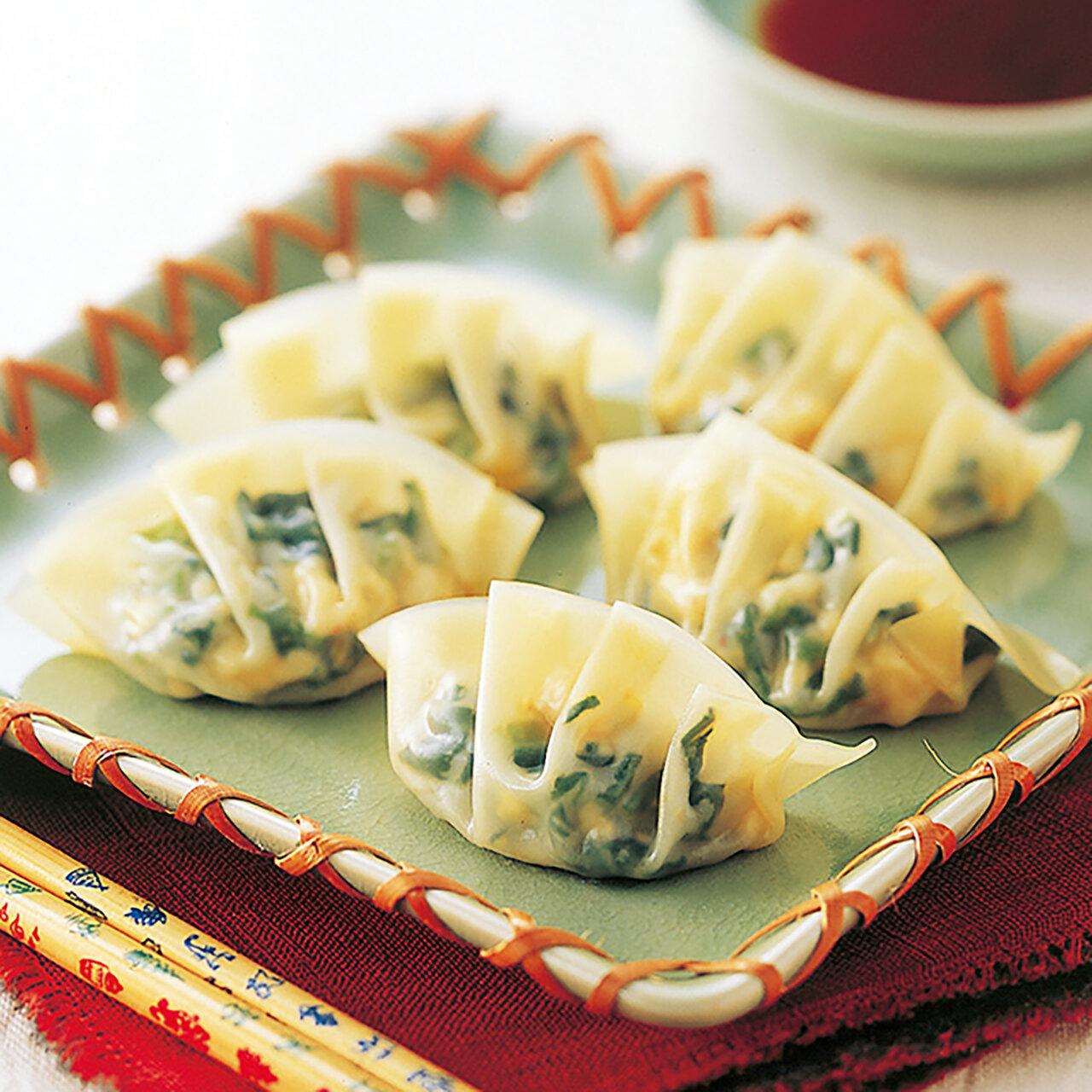 ほうれん草と豆腐の蒸餃子