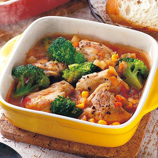 鶏と野菜のトマトスープ煮込み