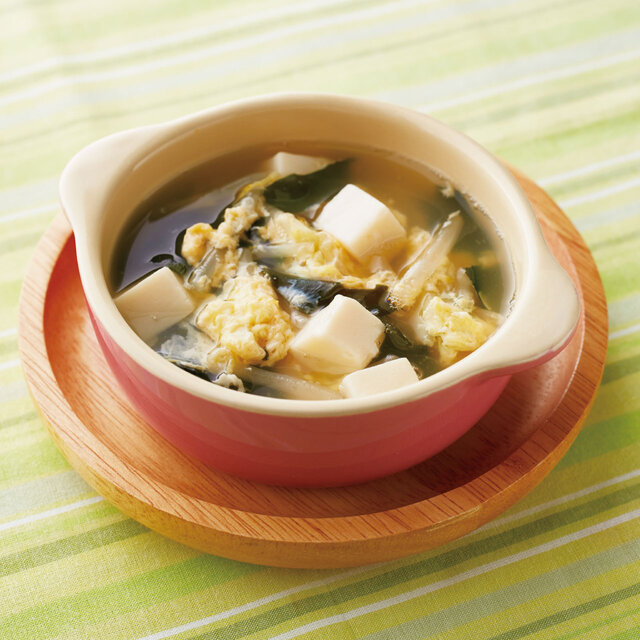 豆腐と卵のとろふわスープ
