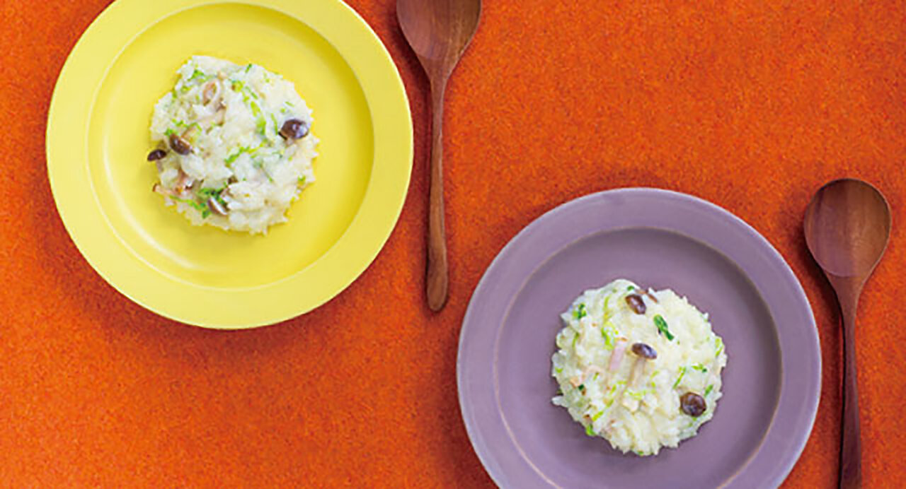レンジで簡単!豆乳チーズリゾット