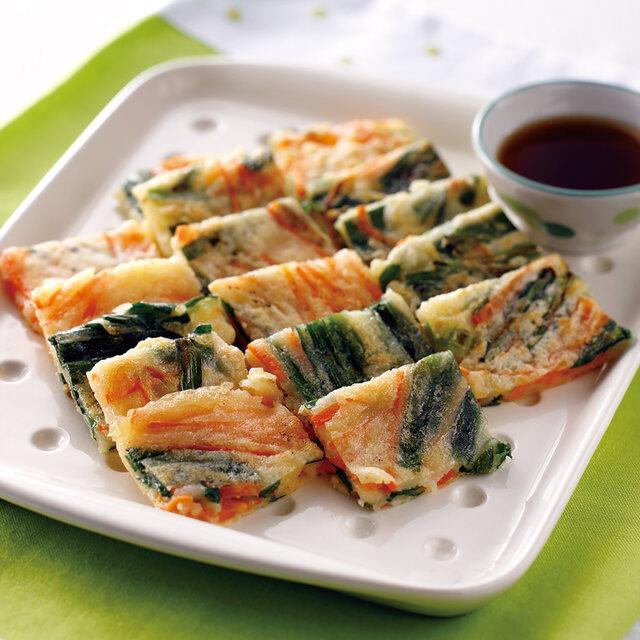 【アレルギー対応】米粉の野菜入りチヂミ