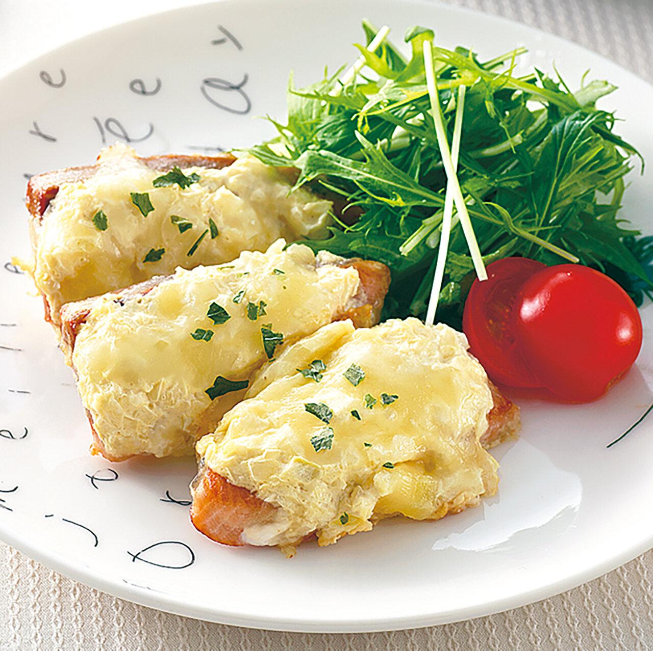 秋鮭の味噌マヨチーズ焼き