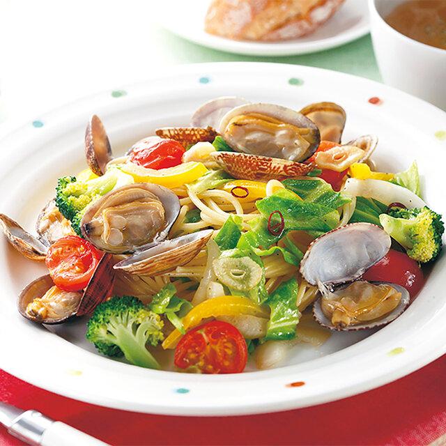 野菜たっぷりボンゴレスパゲッティ