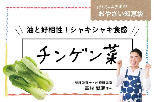 けんちゃん先生のおやさい知恵袋[チンゲン菜]