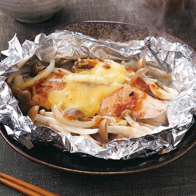 鮭とチーズのホイル焼き