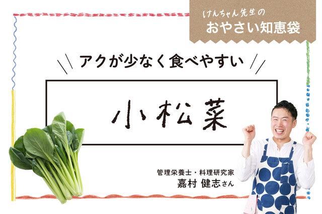 けんちゃん先生のおやさい知恵袋[小松菜]
