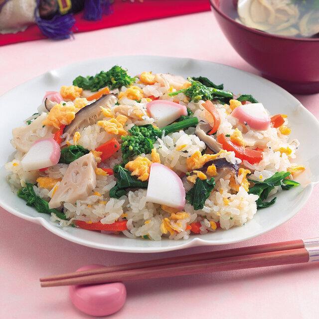 菜の花の炊き込みちらし寿司
