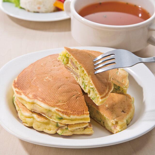 ハムと春キャベツのパンケーキ