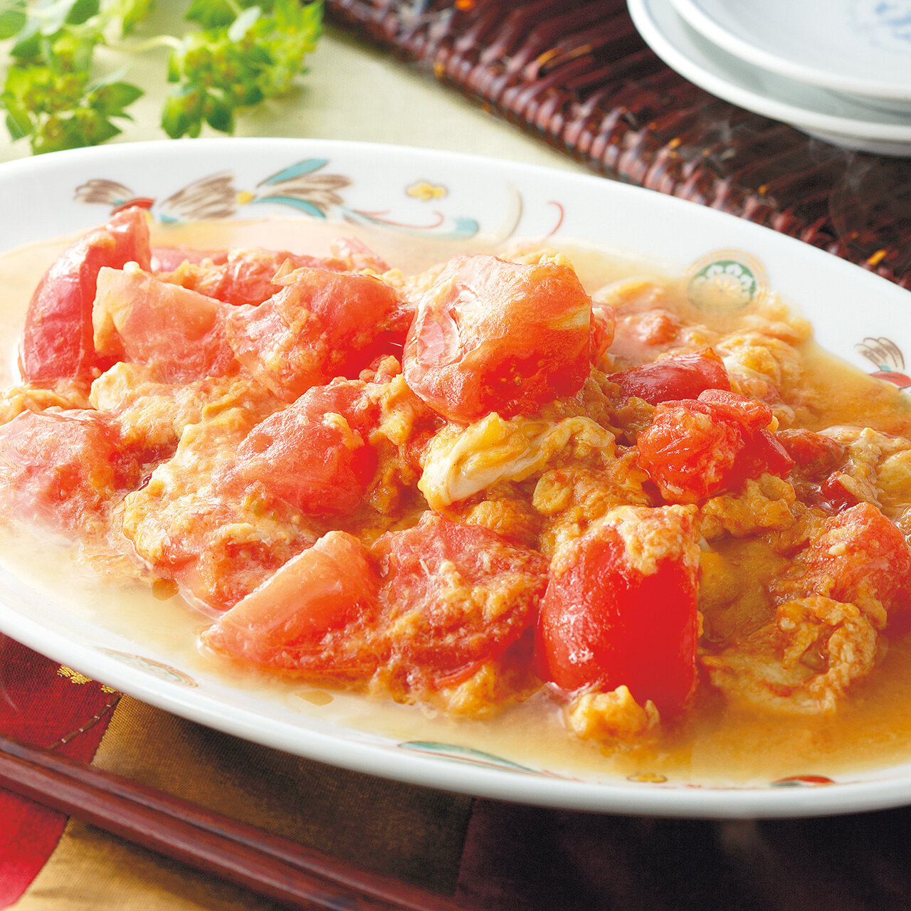 上海風トマト卵炒め