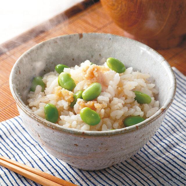 明太子と枝豆の炊き込みごはん