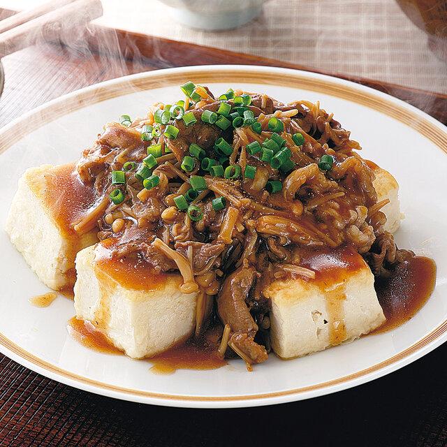 豆腐ステーキのきのこあんかけ