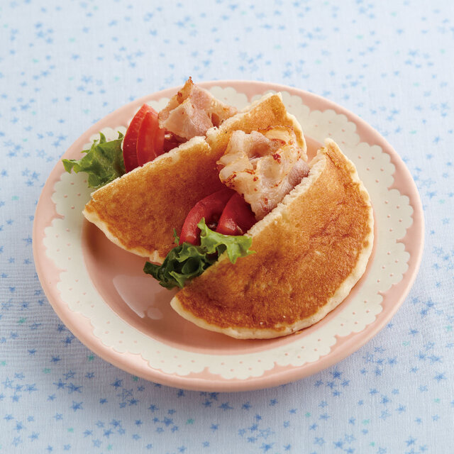 【アレルギー対応】ホットケーキDEピタパン風
