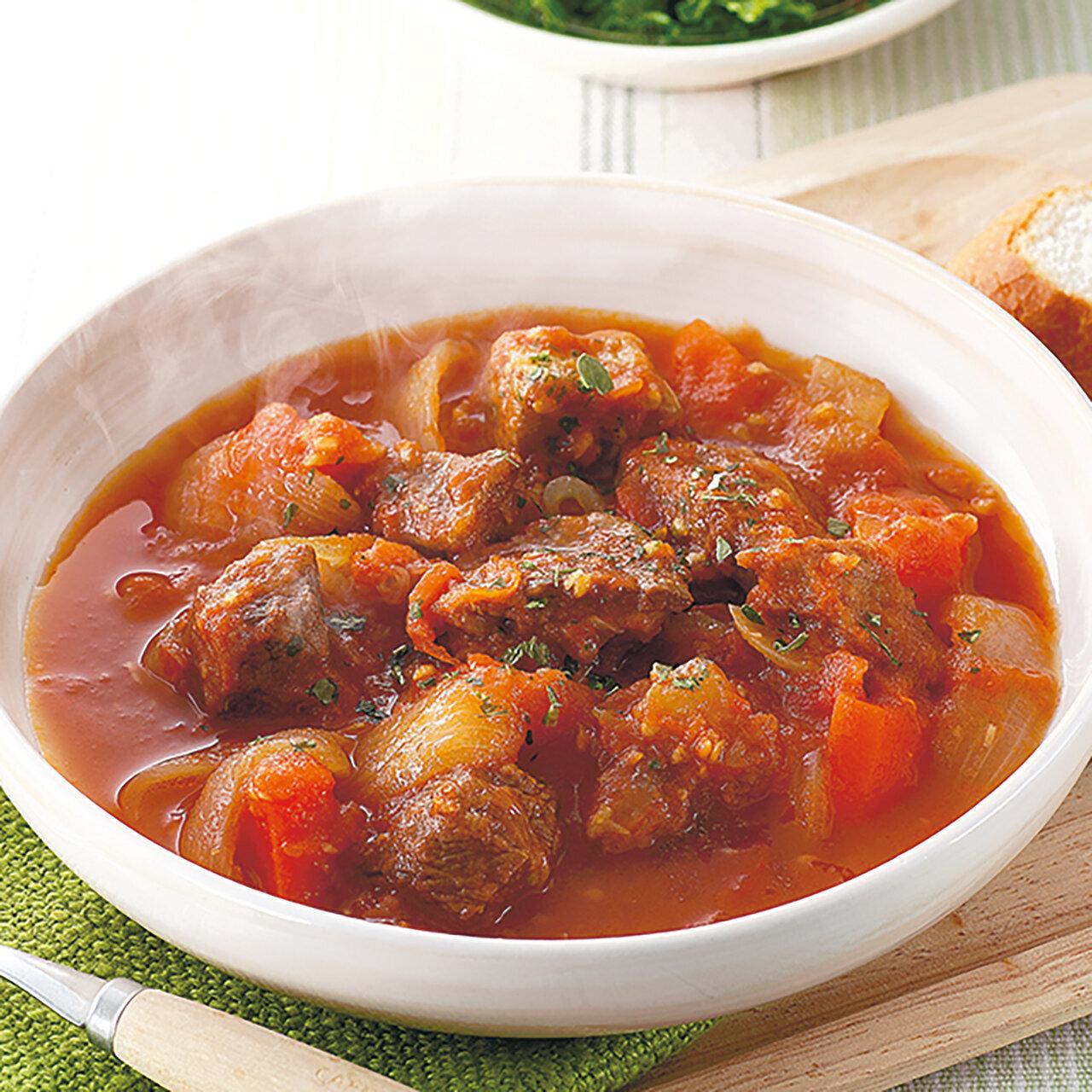 牛すじ肉のトマト煮