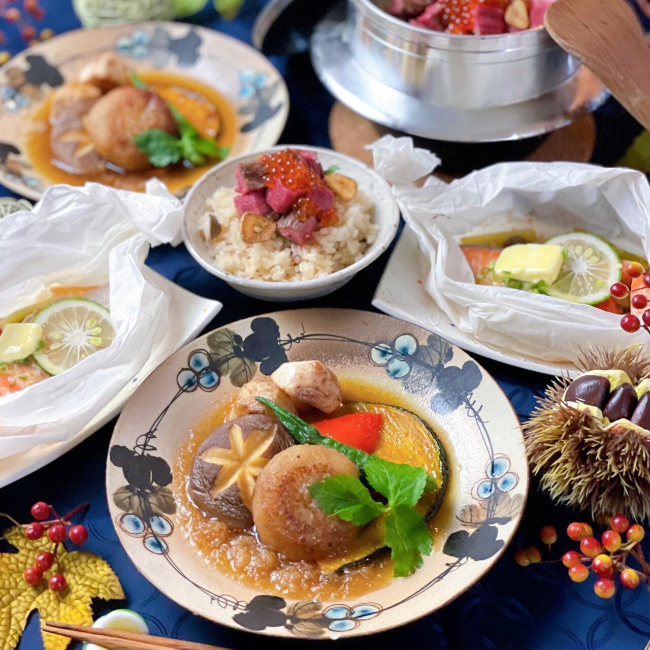 ちはなさんの「秋のおもてなし和食レシピ」インスタライブ
