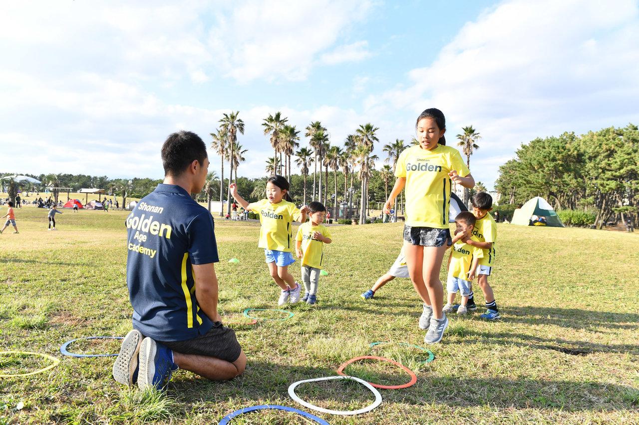 大きなスペースを利用し「走る」「投げる」も含めたスポーツ全般のレッスンを実施