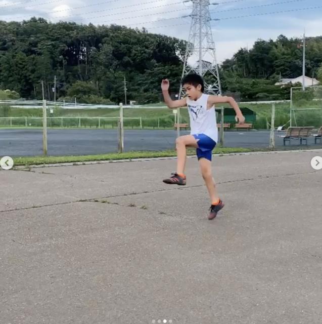 小学生男の子(オンラインパーソナルコーチコース走り方)の保護者様より