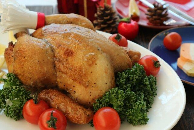【クリスマスにおすすめ】タンパク質豊富のローストチキン