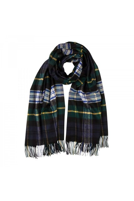 Cashmere Tartan Stole In Dress Gordon - fine cashmere clothing, accessories and knitwear (3509)