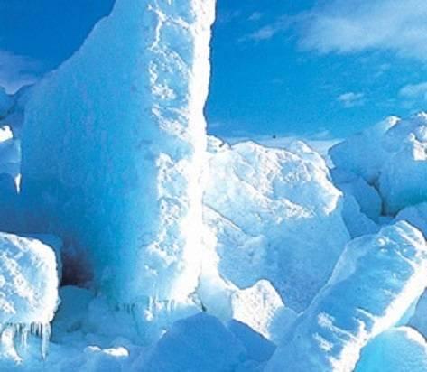 オホーツクの流氷