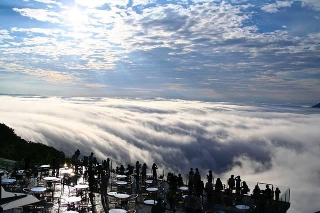 トマムの雲海テラスより撮影したもの