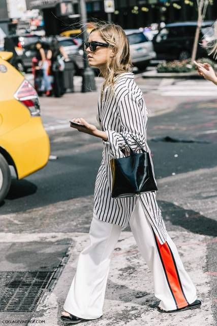 nyfw-new_york_fashion_week_ss17-street_style-outfits-collage_vintage-vintage-tome-168 | S T Y L E | Pinterest | パンツ、シャツ、レディースストライプコーデ (15953)